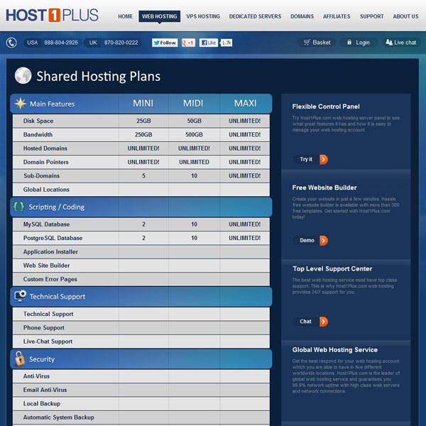 Host1Plus Web Hosting