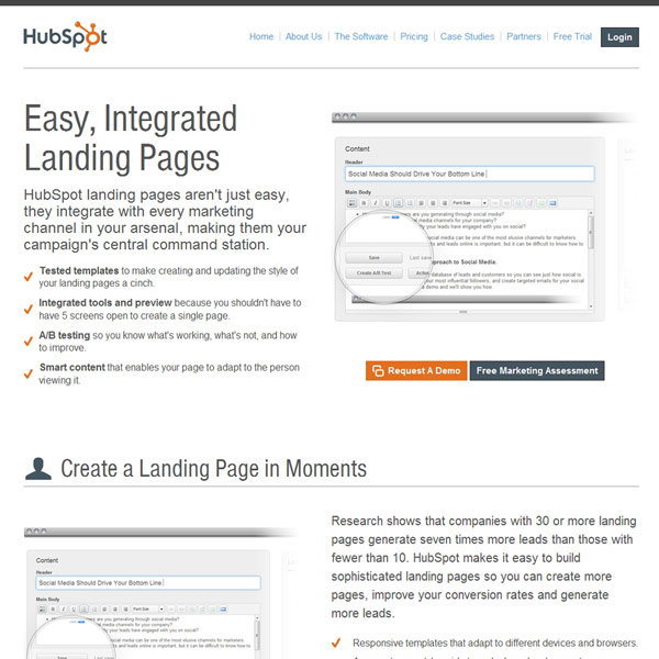 HubSpot Pages
