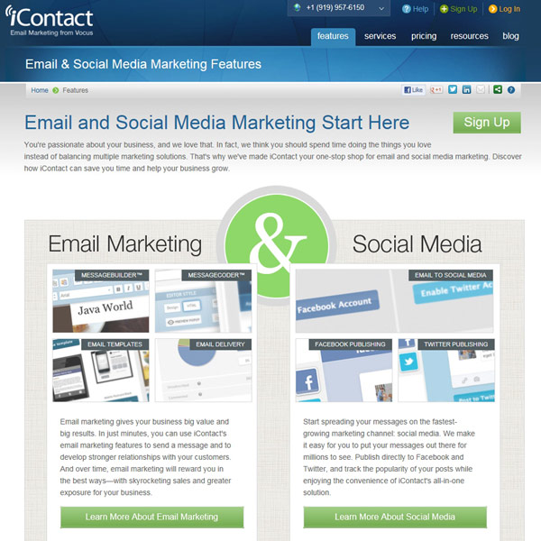 iContact Features