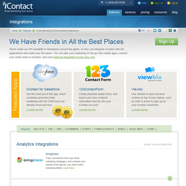 iContact Integrations