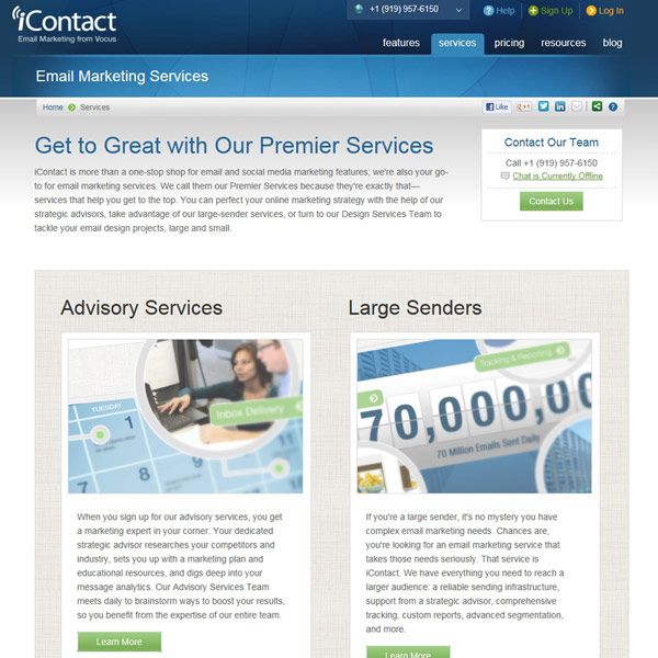 iContact Services