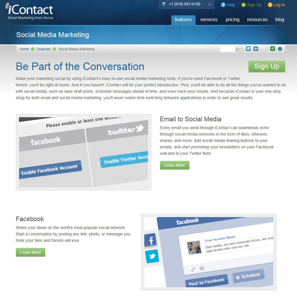 iContact Social Media Marketing