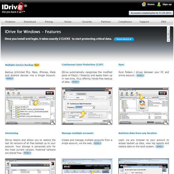 IDrive Features