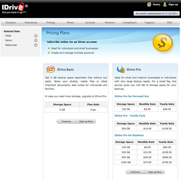 IDrive Pricing