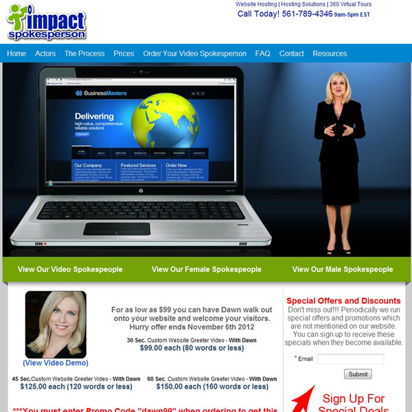 Impact Spokesperson Homepage