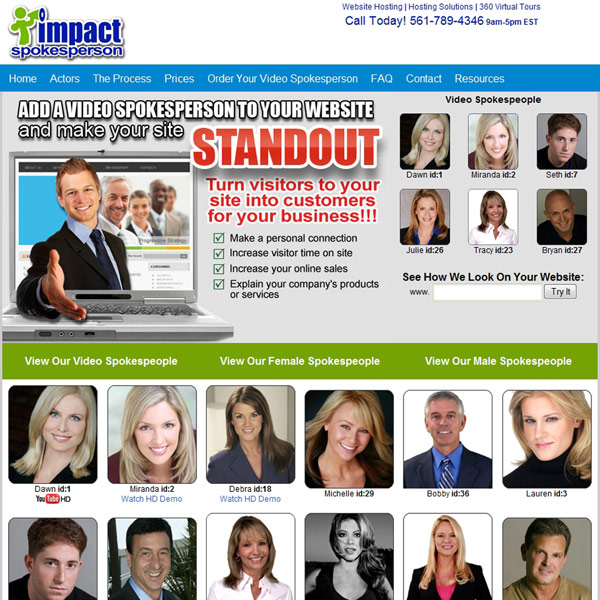 Impact Spokesperson Actors