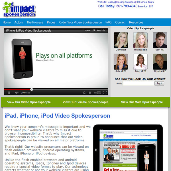 Impact Spokesperson Iphone