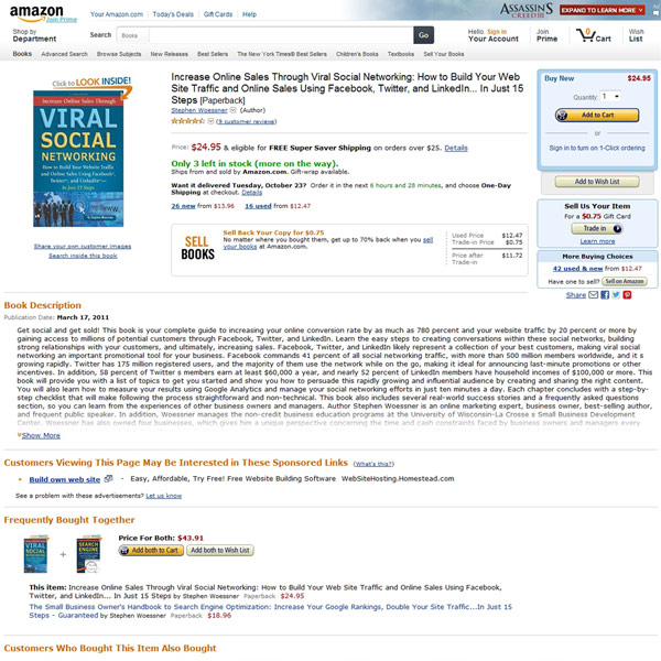 Increase Online Sales Through Viral Social Networking Homepage