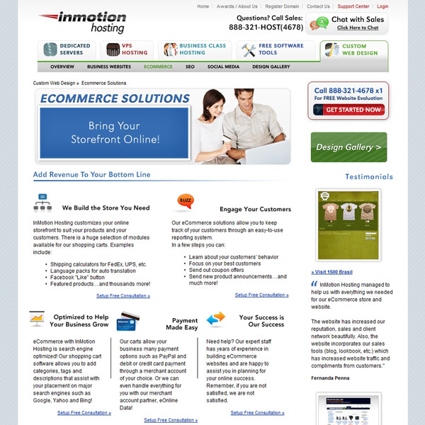InMotion Hosting Ecommerce Solutions