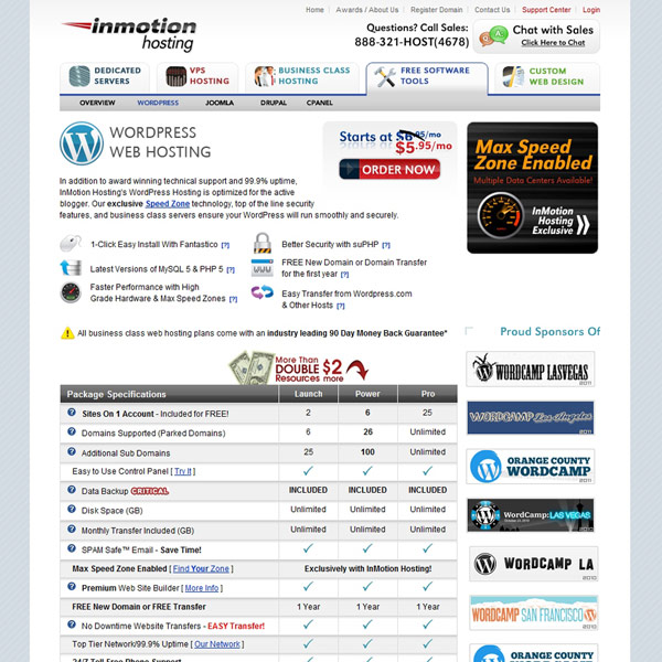 InMotion Hosting WordPress Hosting