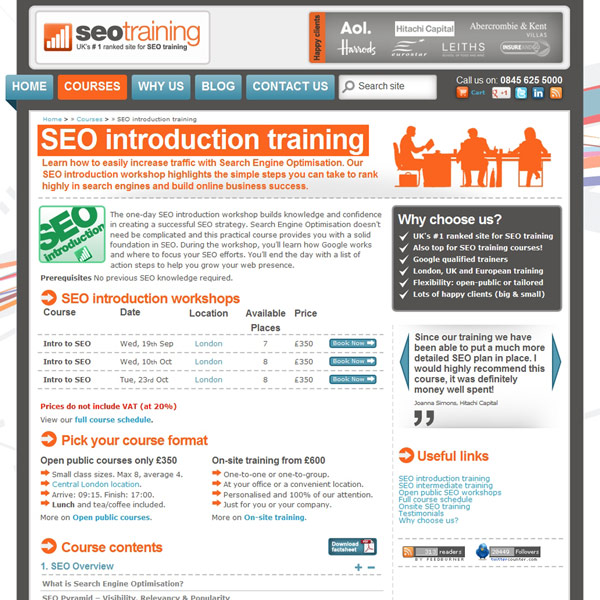 Introduction to SEO Homepage