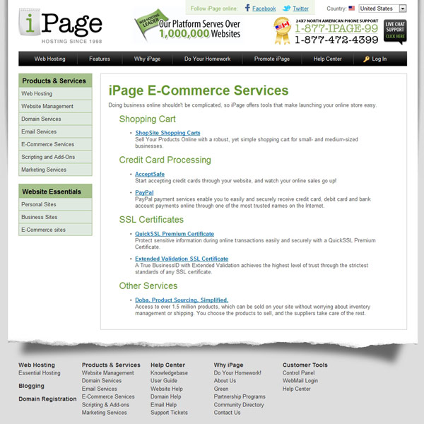 iPage E-commerce Services