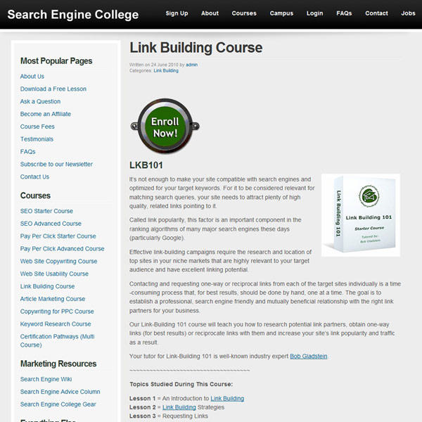 Link Building Course Homepage