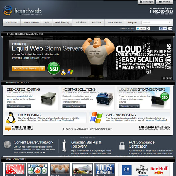 Liquid Web Homepage