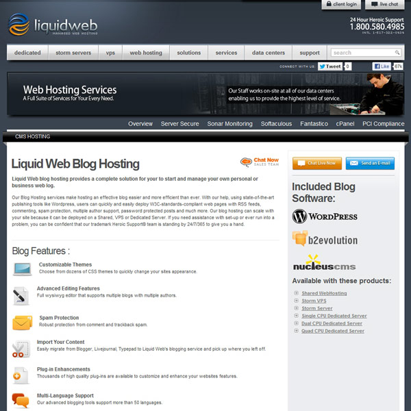 Liquid Web Blog Hosting
