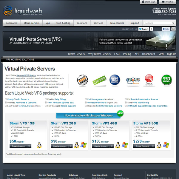 Liquid Web Virtual Private Servers