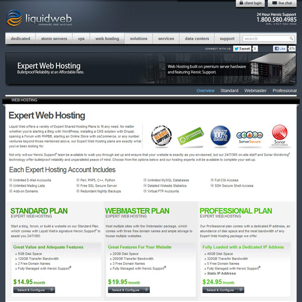 Liquid Web Web Hosting Plans