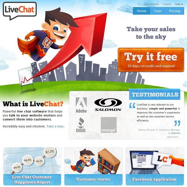 LiveChat Homepage