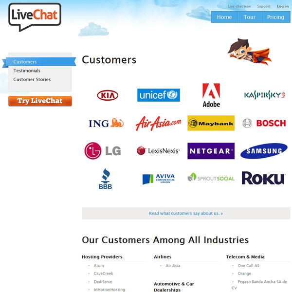 LiveChat Customers