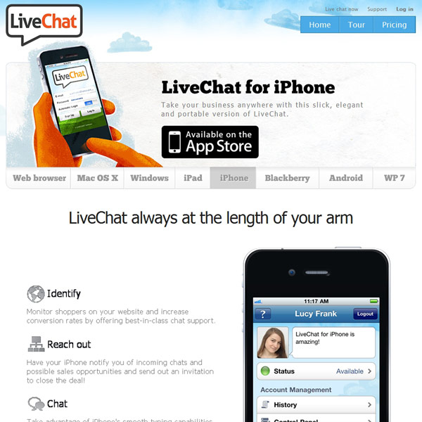 LiveChat iphone