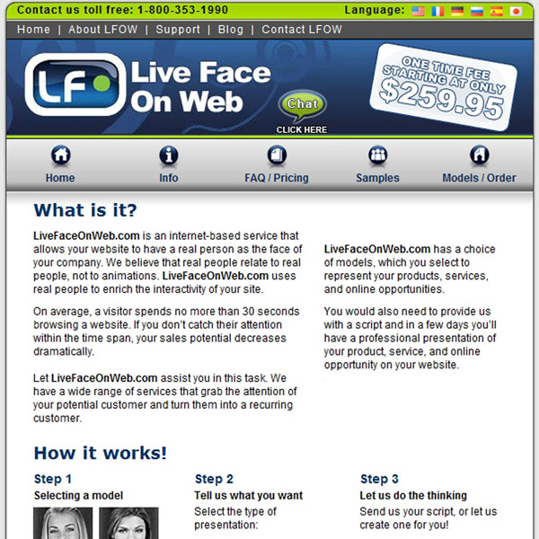 Live Face On Web Info