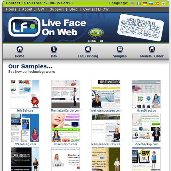 Live Face On Web Samples