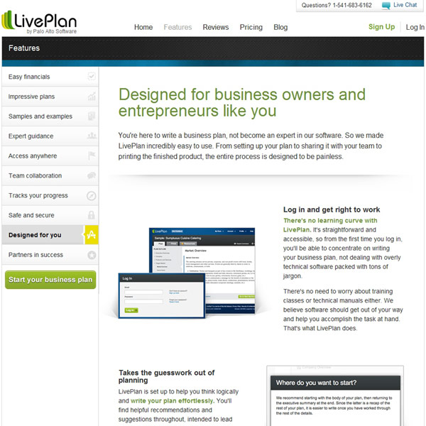 LivePlan Designed For You