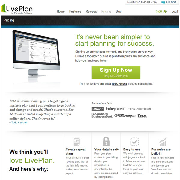 LivePlan Pricing