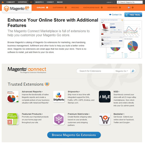 Magento Go Extensions