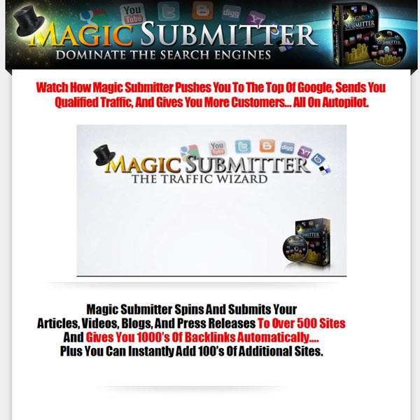 Magic Submitter Homepage