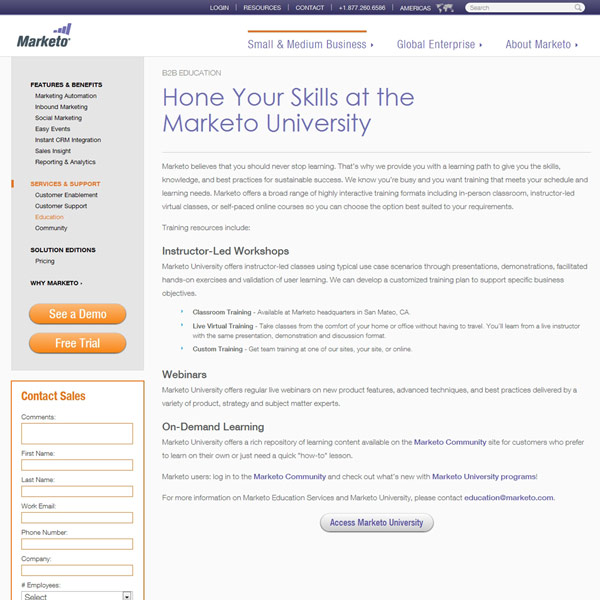 Marketo Education