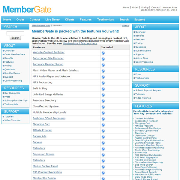 MemberGate Features