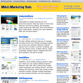 Mike's Marketing Tools After