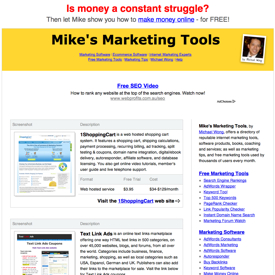 Mike's Marketing Tools Before