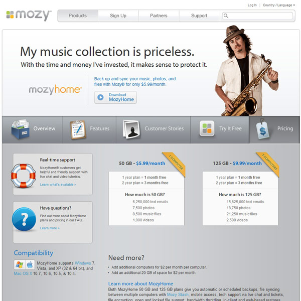 Mozy Pricing