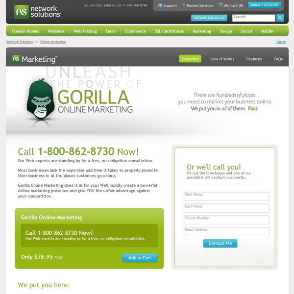 Network Solutions Gorilla Online Marketing