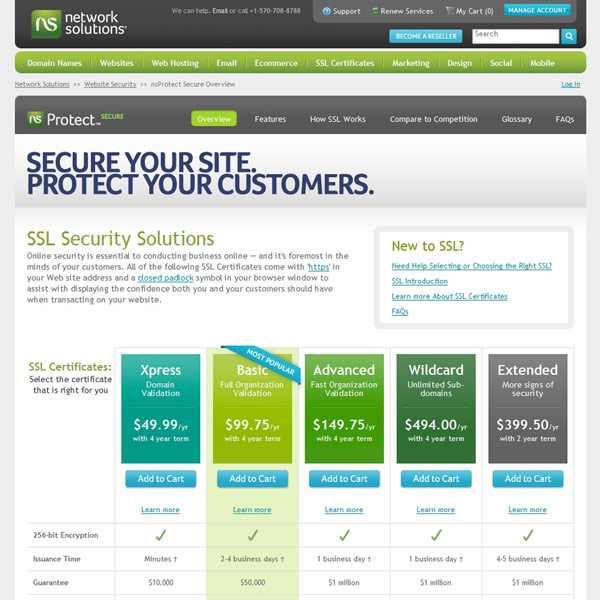 Network Solutions SSL Security Solutions