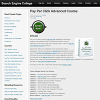 Pay Per Click Advanced Course screenshot