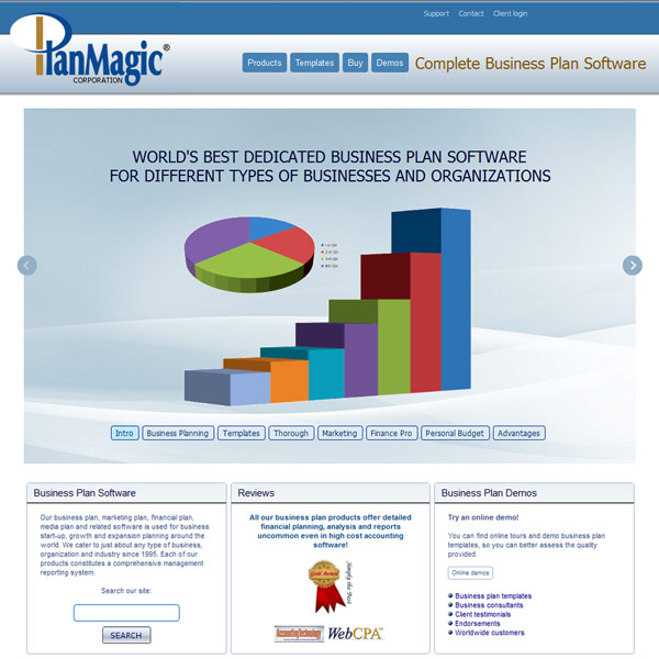 PlanMagic Business Homepage