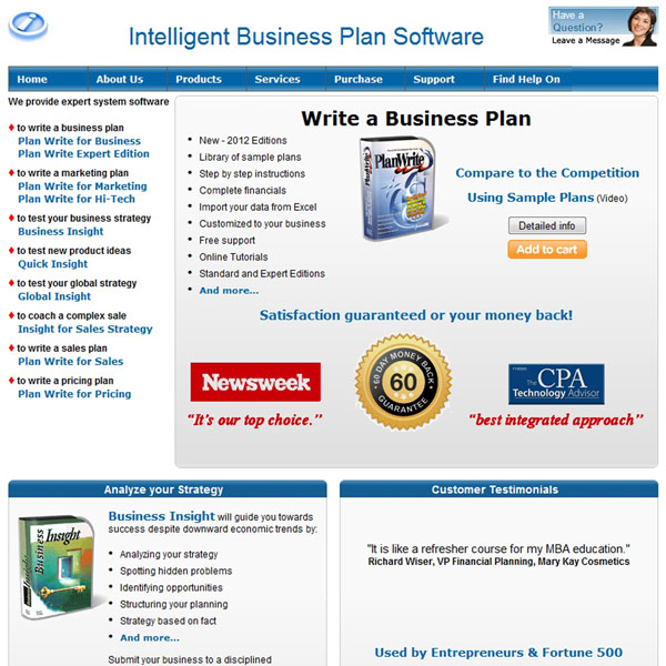 Plan Write Homepage