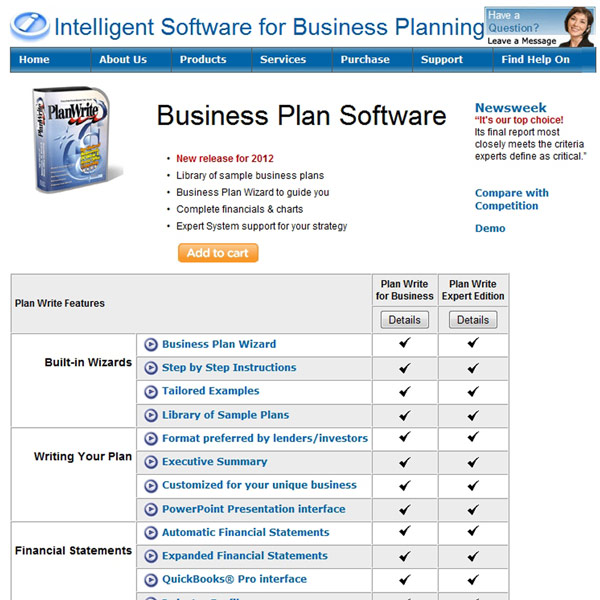 Plan Write Features
