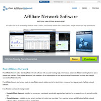 Post Affiliate Network screenshot