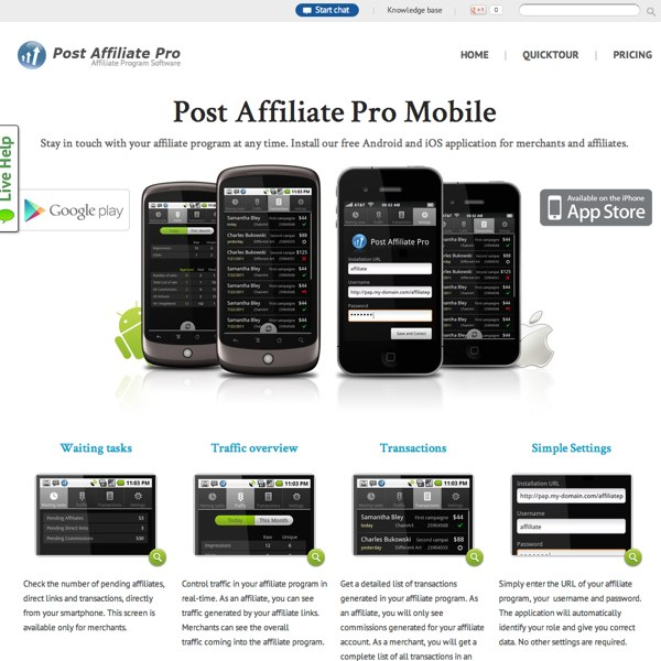 Post Affiliate Pro Mobile