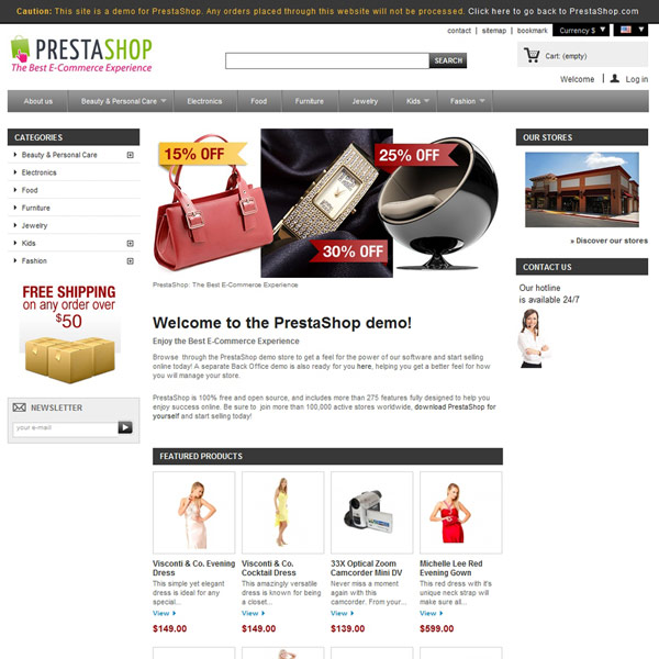 PrestaShop Demo Shops