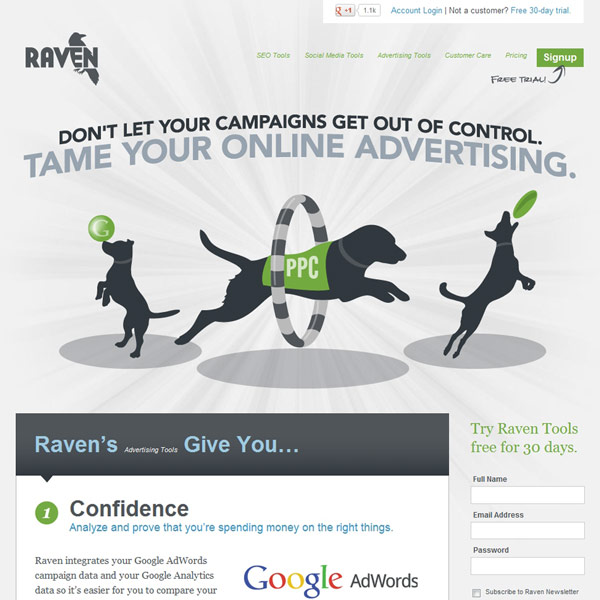 Raven Tools Advertising