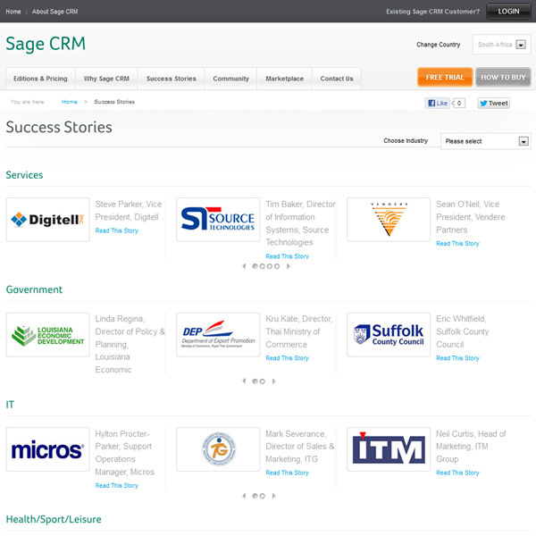 Sage CRM Customers
