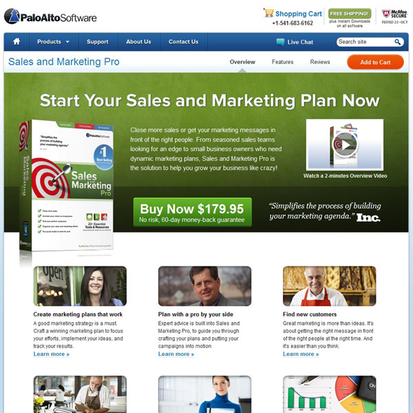 Sales and Marketing Pro Homepage