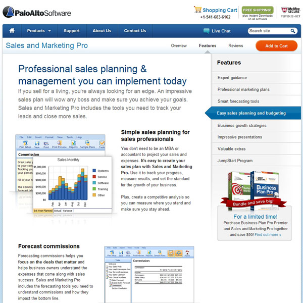 Sales and Marketing Pro Sales Planning