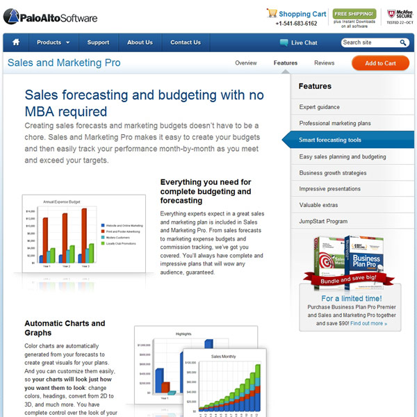 Sales and Marketing Pro Forecasting Tools