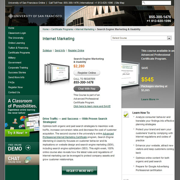 Search Engine Marketing & Usability Homepage